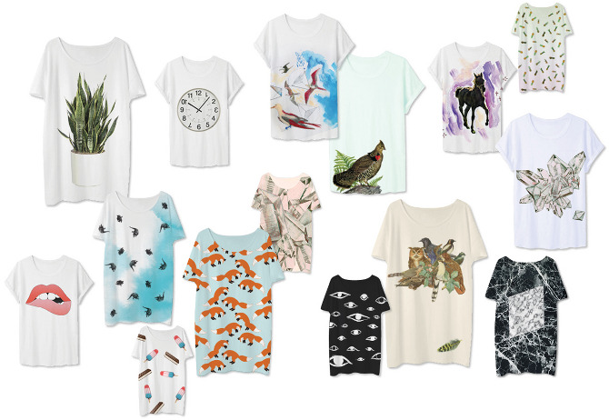 graphic tees: