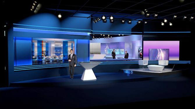 Al Jazeera, News Room Set, Qatar - FLINT SKALLEN