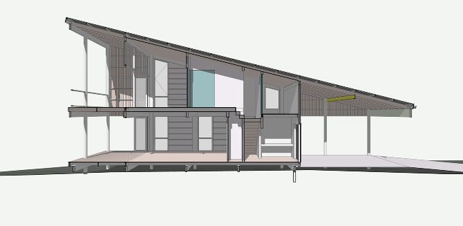 Wedgie spacecraftarchitects for Mono pitch house plans