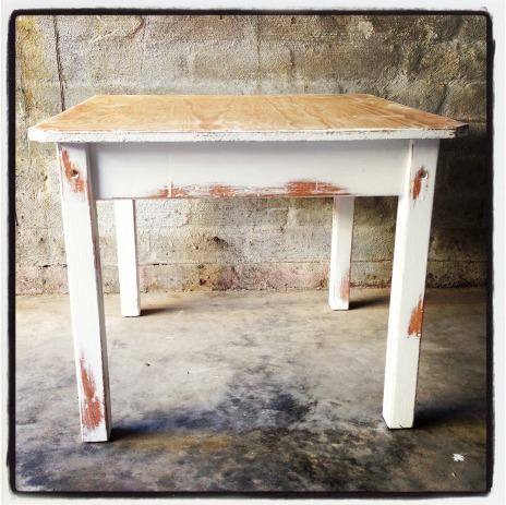 WHITE DINING TABLE   Palmer   Smee. Distressed White Dining Set. Home Design Ideas